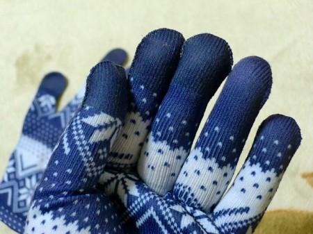 親指・人差し指・中指に特別な繊維