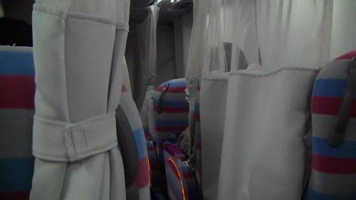 両脇にはプライベートカーテン