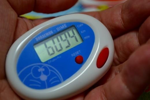 ドラえもん歩数計は消費カロリーまでわかる